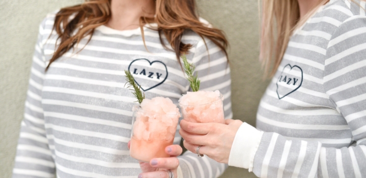 Pink Grapefruit & Rosemary Slushie Margaritas