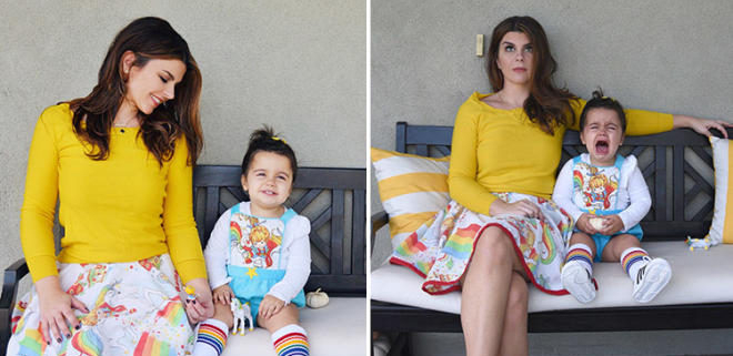 Instagram vs real life motherhood